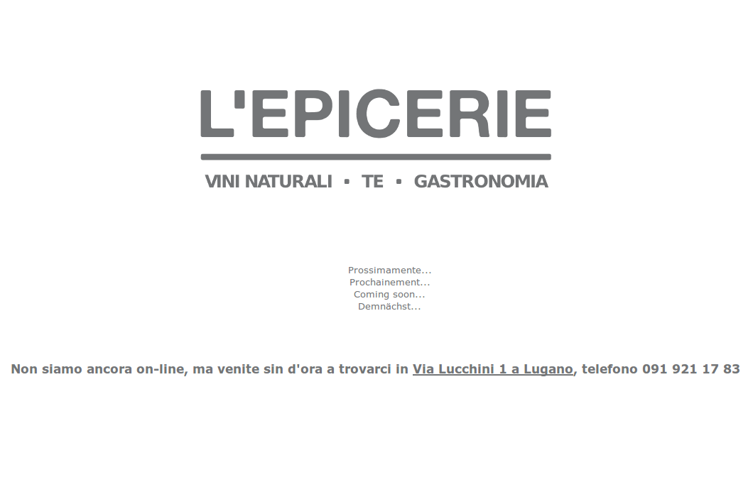 L'Epicerie Homepage