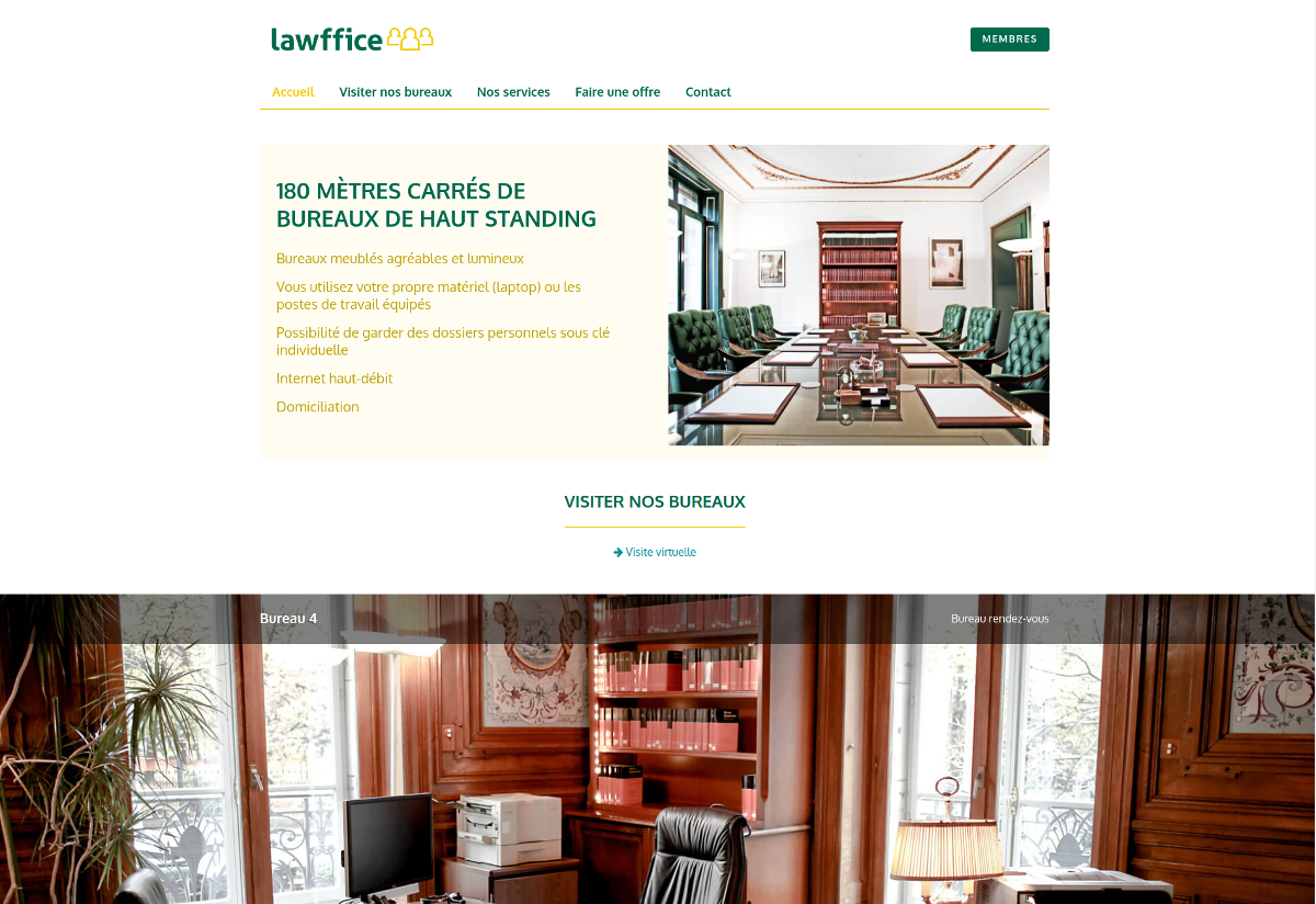 Page d'accueil Lawffice