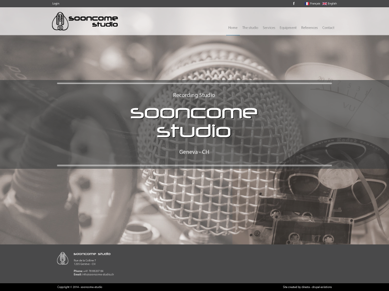 Sooncome studio Homepage