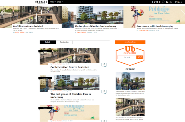 Urboxed Homepage