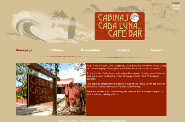Cada Luna Cafe Bar homepage picture